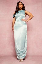 Thumbnail for your product : boohoo Plus Bridesmaid Slash Neck Maxi Dress