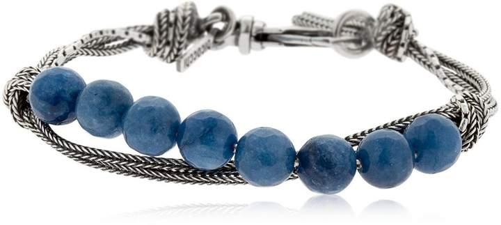 Emanuele Bicocchi Quartz & Silver Chain Bracelet