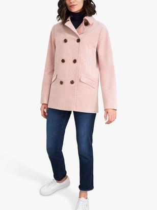 White Stuff Velvet Pea Coat, Mid Pink