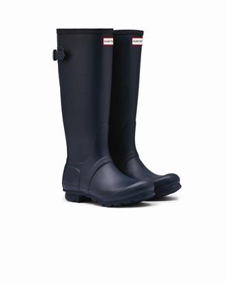 Hunter Women's Tall Adjustable Rain Boot Navy - Size 10