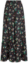 RED Valentino Wide Leg Printed Silk Pants