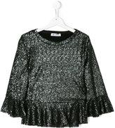 Dondup Kids ruffled sequinned blouse