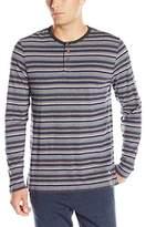 Tommy Bahama Men's Yarn-Dye Cotton Modal Jersey Long Sleeve Henley