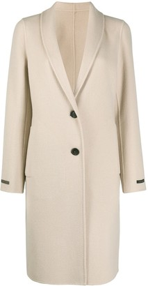 Peserico Wool Cashmere Single Breasted Coat