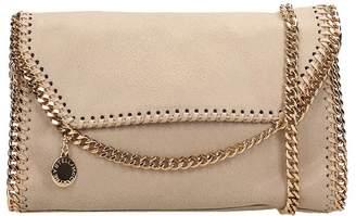 Stella McCartney Falabella Clutch In Beige Faux Leather