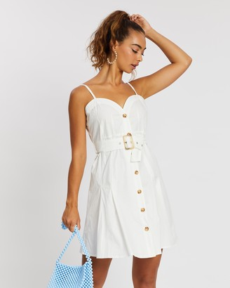 Missguided Poplin Cami Button-Through Dress
