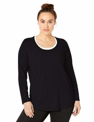 Core 10 Amazon Brand Women's Pima Cotton Blend Yoga Long Sleeve