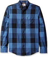 Ben Sherman Men's Long Sleeve Textured Oversized Gingham Button Down Shirt