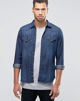 Replay Denim Shirt Dark Wash