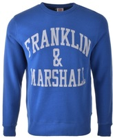 Franklin & Marshall Franklin Marshall Logo Sweatshirt Blue