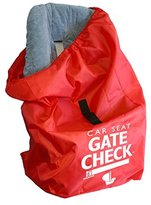 J L Childress Gate Check Bag for Car Seats, Red