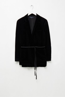 French Connection Amato Velvet Longline Jacket