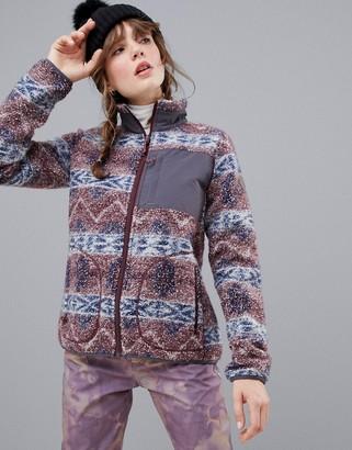 Burton Snowboards Premium Bombay full-zip fleece in purple