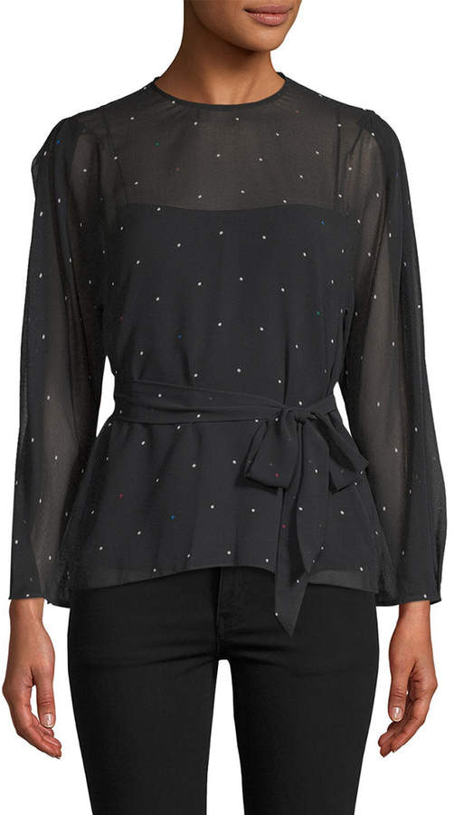 Camilla And Marc Scarlett Dotted Blouse
