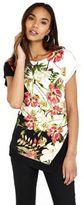 Wallis Floral Jersey Asymmetric Top, Women's