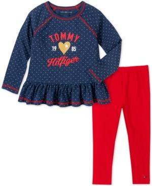 Tommy Hilfiger Baby Girls 2-Pc. Peplum Tunic & Leggings Set