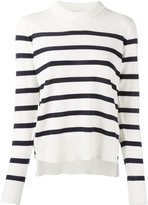Moncler striped long sleeve jumper - women - Virgin Wool - L