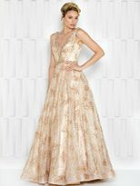 Colors Dress - 1614 Sequined A-line Evening Gown