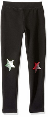 Look by crewcuts Girls' Cozy Legging Black Hearts X-Small (4/5)