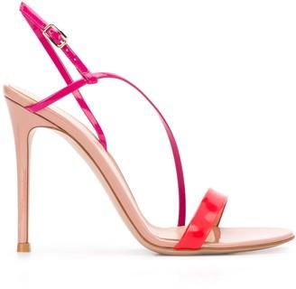 Gianvito Rossi Manhattan 105mm colour-block sandals