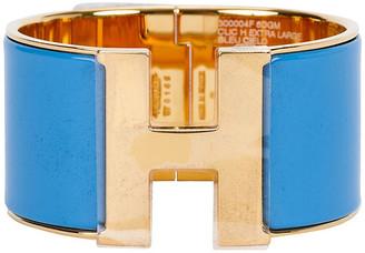One Kings Lane Vintage Hermes Blue Cielo Mega Bracelet - Vintage Lux