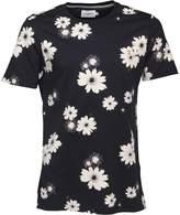 Farah Mens Ragworth Floral Print T-Shirt True Navy