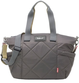 Babymel Evie Quilted Diaper Bag - Black/Charcoal