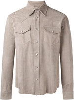 Eleventy western style shirt with chest pockets - men - Suede - 48