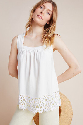 Anthropologie Arabella Eyelet Top By in White Size XS