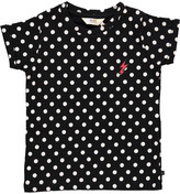 Little Eleven Paris McFly Polka Dot Embroidered T-Shirt Noir