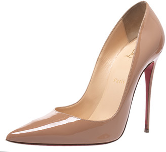 Christian Louboutin Beige Leather So Kate Pointed Toe Pump Size 39.5