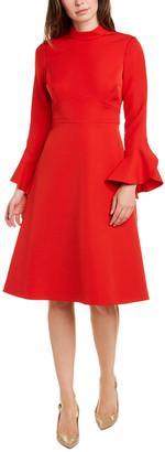 Teri Jon By Rickie Freeman Mock A-Line Dress