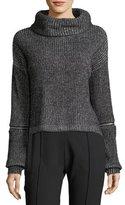 Willow & Clay Zip-Detail Crop Sweater