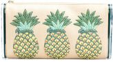 Edie Parker pineapples embroidery clutch - women - Hemp/Plexiglass - One Size