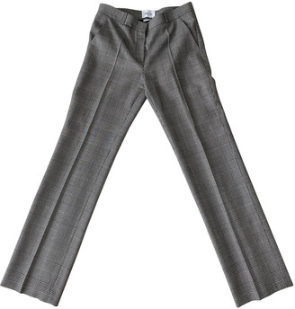 Pallas Grey Wool Trousers for Women