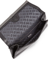 Diane von Furstenberg 440 Envelope Clutch Bag with Snake-Print Trim, Black