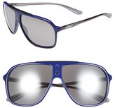 Carrera Men's Eyewear 62Mm Sunglasses - Blue Grey/ Black Mirror