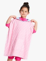 John Lewis & Partners Girls' Unicorn Towelling Poncho, Pink