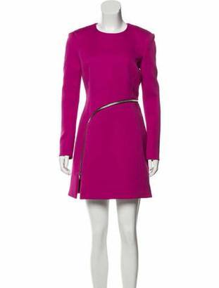 Alexander Wang Zip-Accented Mini Dress Fuchsia