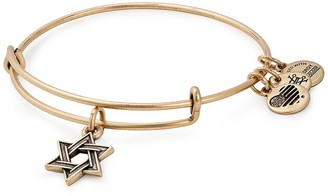 Alex and Ani Star of David IV Expandable Wire Bangle Bracelet