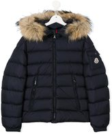 Moncler fur trimmed padded jacket - kids - Feather Down/Polyamide/Racoon Fur - 14 yrs