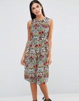 AX Paris Vintage Floral Printed Midi Dress