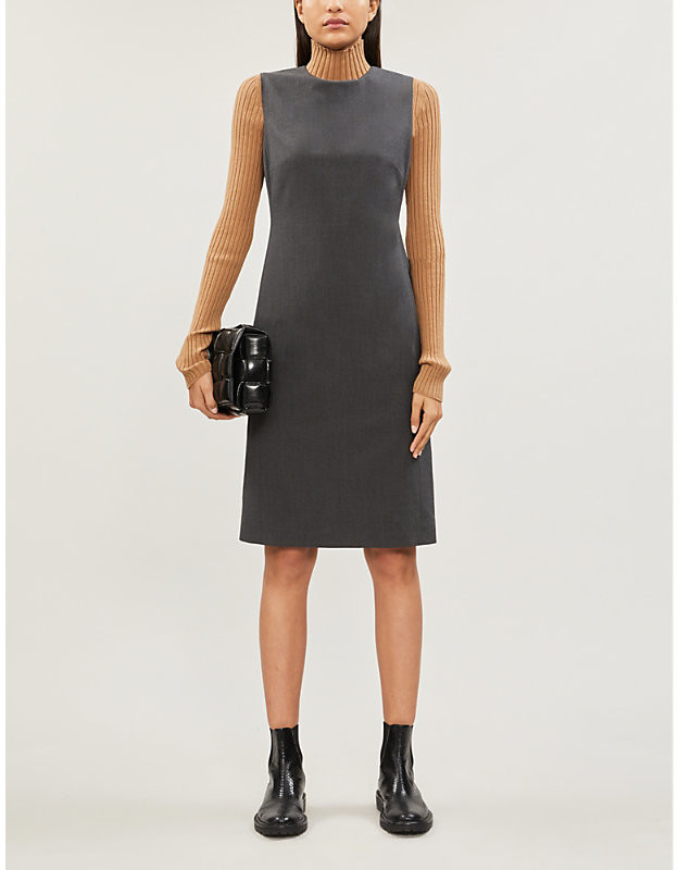Theory Eano knee-length stretch-wool dress
