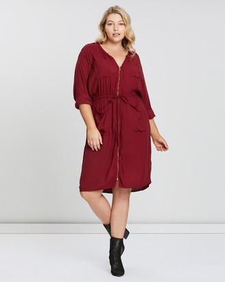 Hope & Harvest Zip Front Utility Dress
