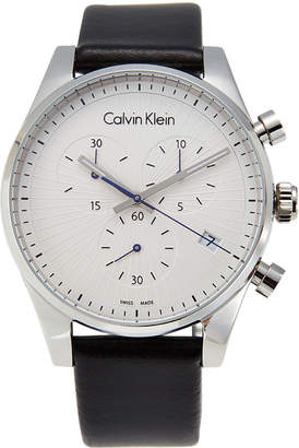 Calvin Klein K8S271C6 Silver-Tone & Black Chronograph Watch