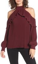 NBD Women's Brinley Ruffle Cold Shoulder Top