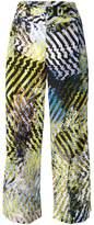 Issey Miyake printed wide-leg trousers