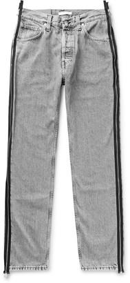 Helmut Lang Zip-Detailed Stonewashed Denim Jeans
