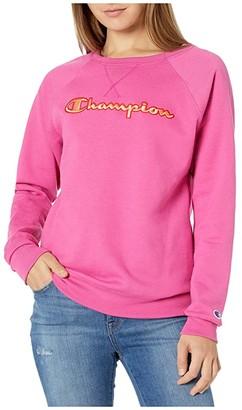 Champion Powerblend(r) Applique Boyfriend Crew (Red Flame) Women's Sweatshirt