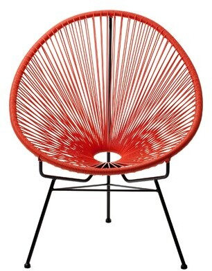 Bronx Bradley Papasan Outdoor Chair Ivy Color: Red